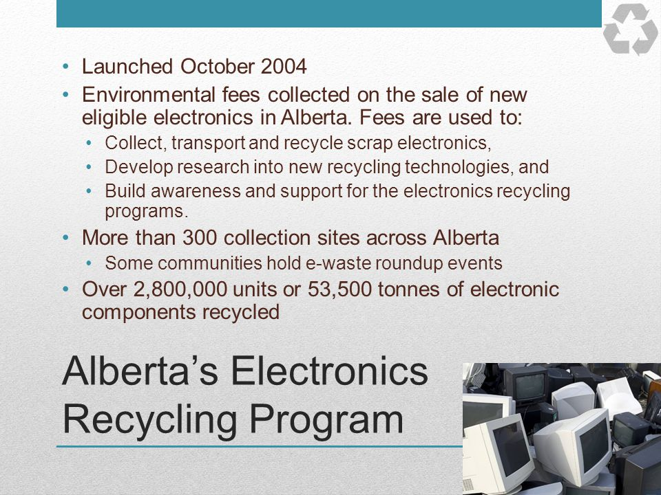 Alberta's Electronics Recycling Program