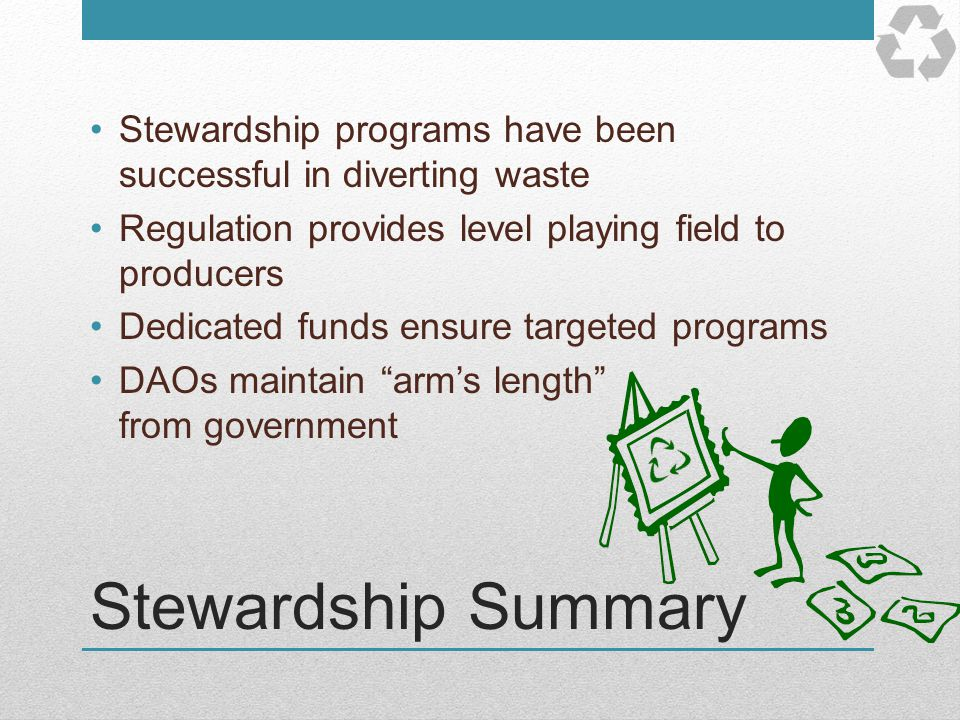 Stewardship programs have been successful in diverting waste