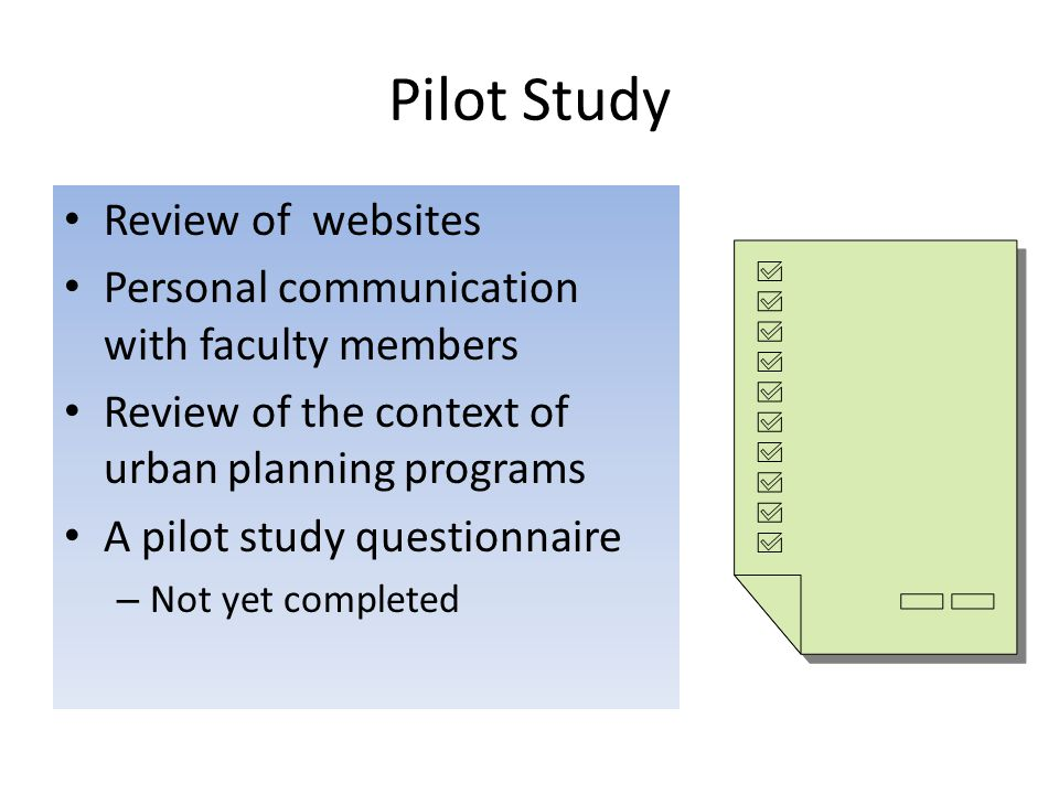 Pilot Study Review of websites