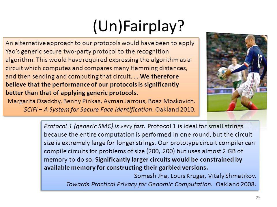 (Un)Fairplay