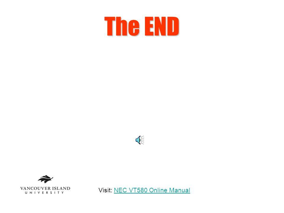 Visit: NEC VT580 Online Manual