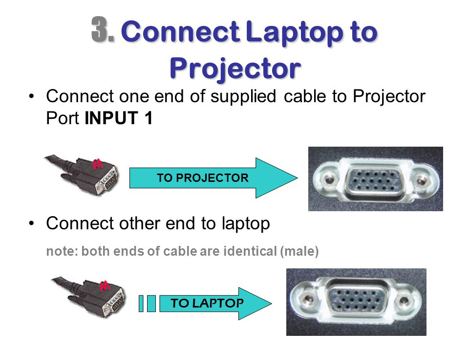 3. Connect Laptop to Projector