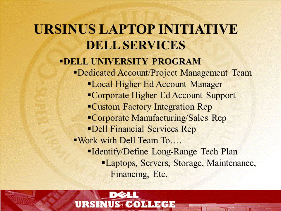 URSINUS LAPTOP INITIATIVE