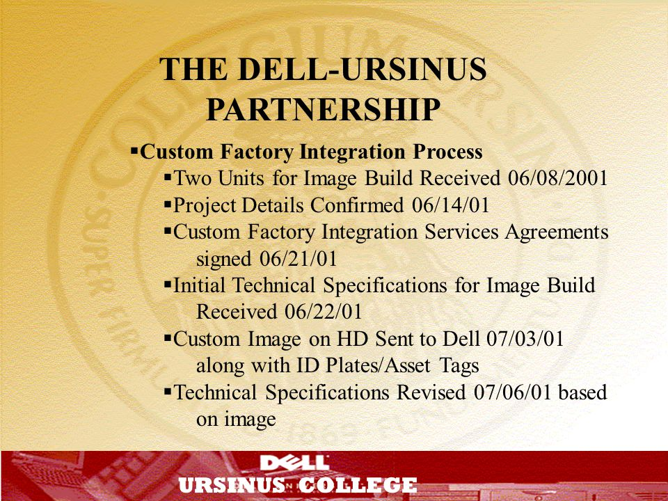 THE DELL-URSINUS PARTNERSHIP