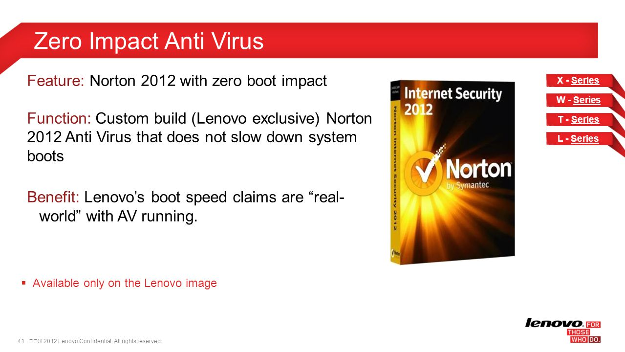 Zero Impact Anti Virus Feature: Norton 2012 with zero boot impact