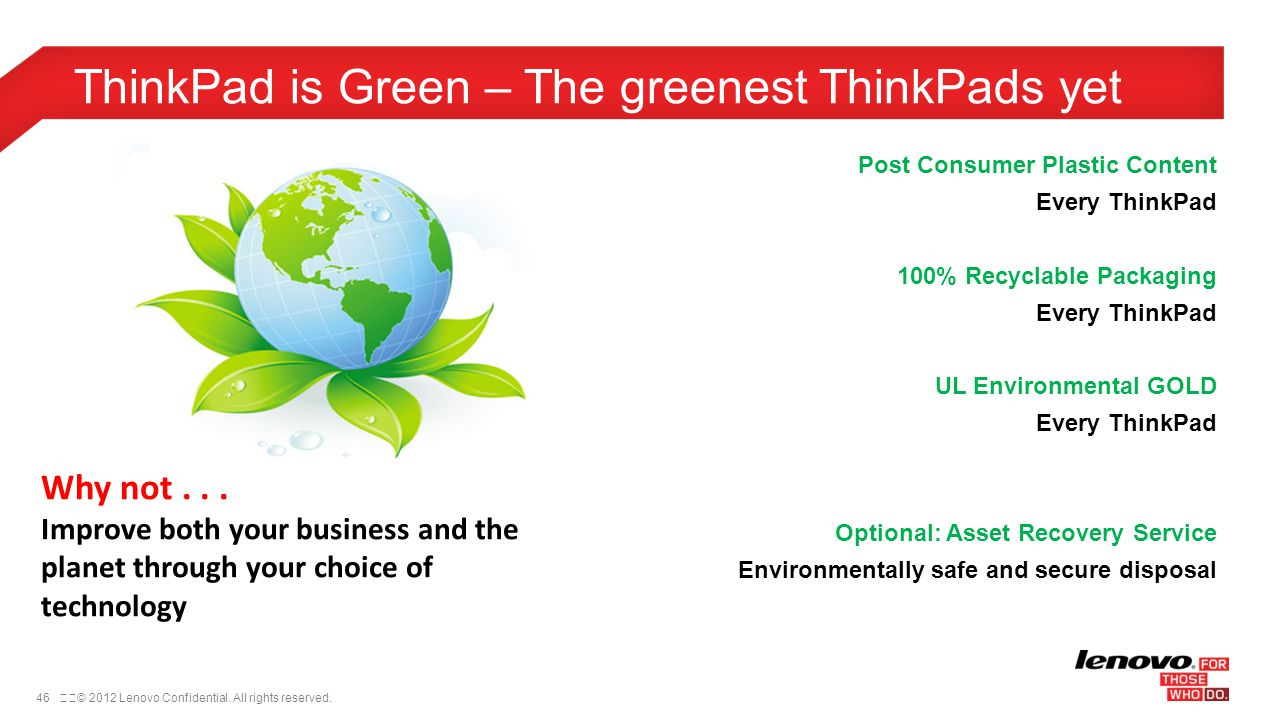 ThinkPad is Green – The greenest ThinkPads yet