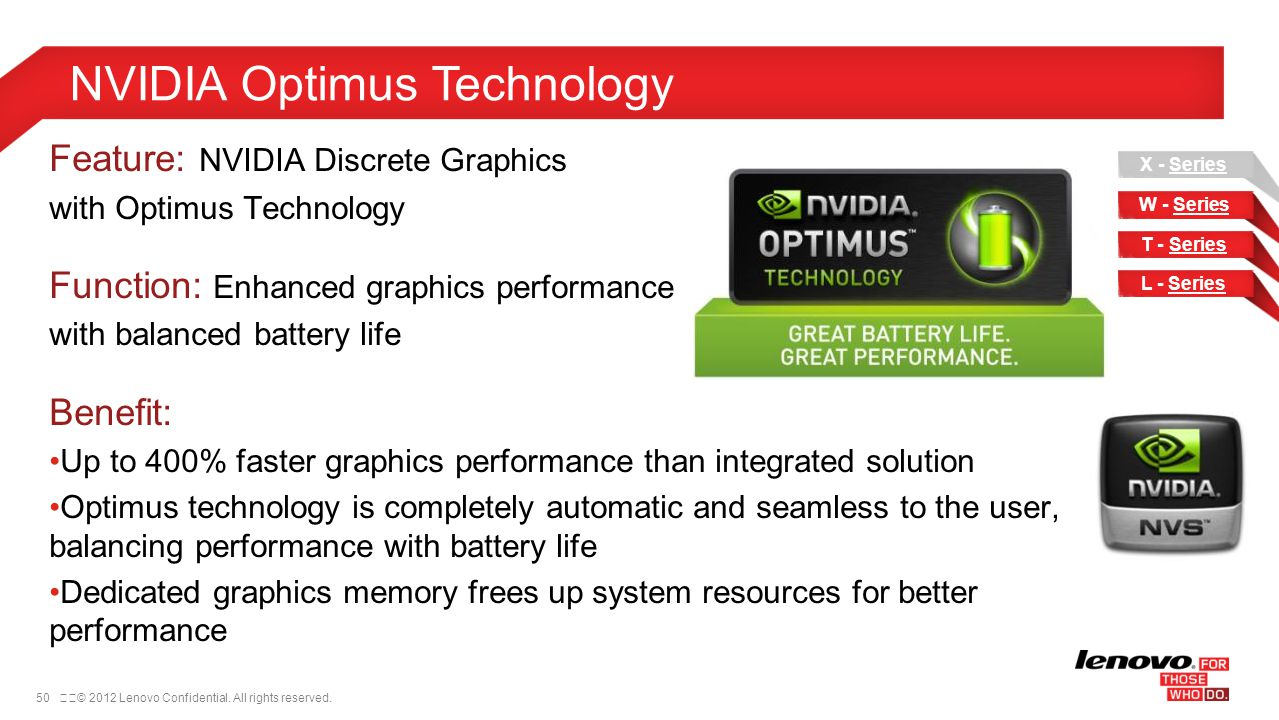 NVIDIA Optimus Technology