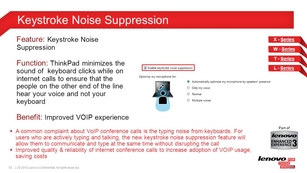 Keystroke Noise Suppression