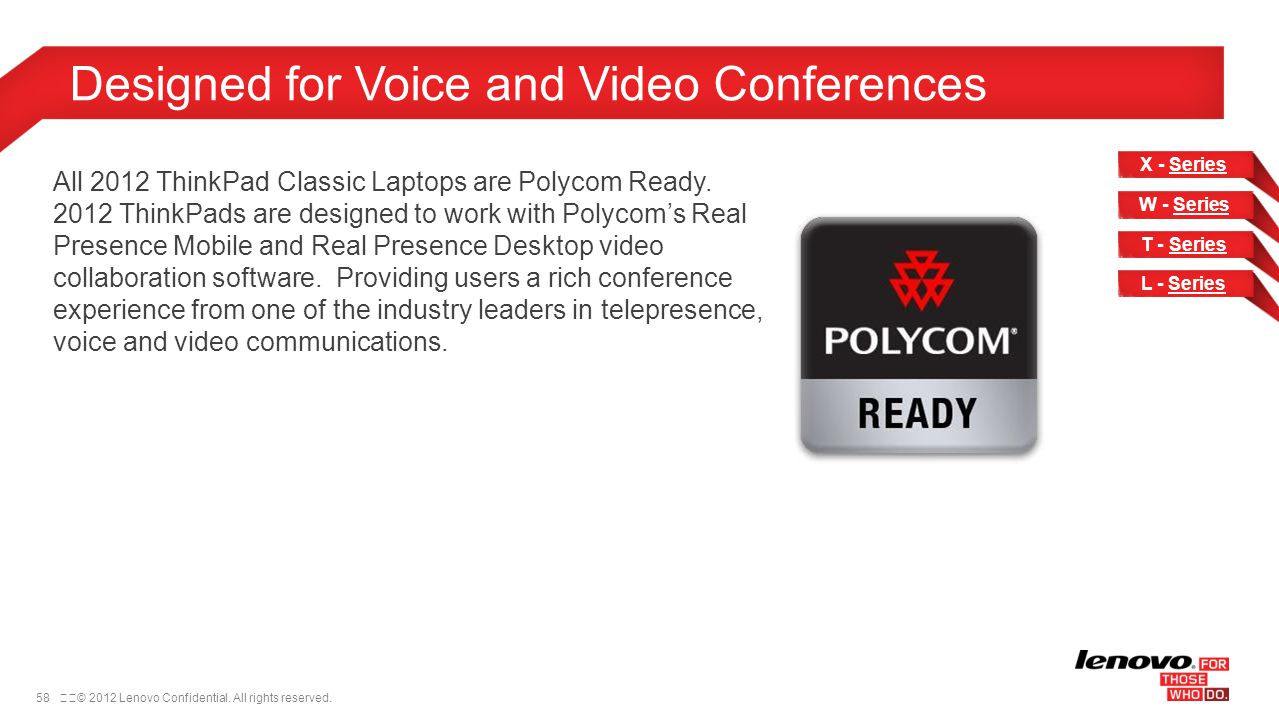 Designed for Voice and Video Conferences
