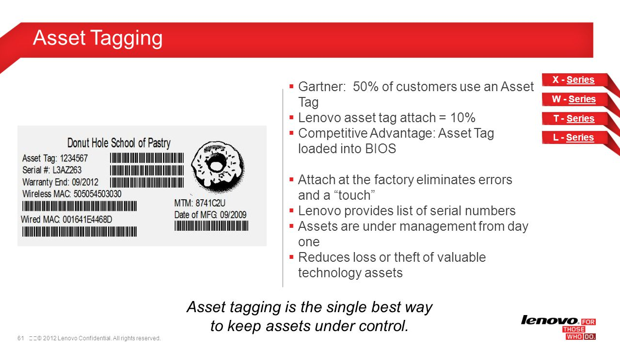 Asset tagging is the single best way to keep assets under control.