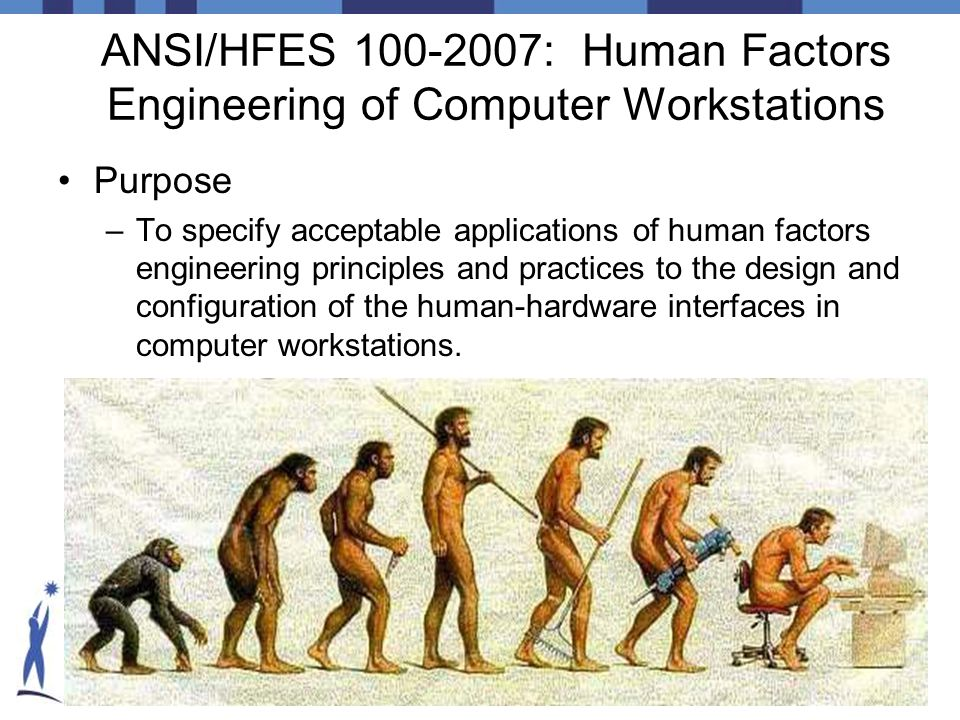 ANSI/HFES 100-2007: Human Factors Engineering of Computer Workstations