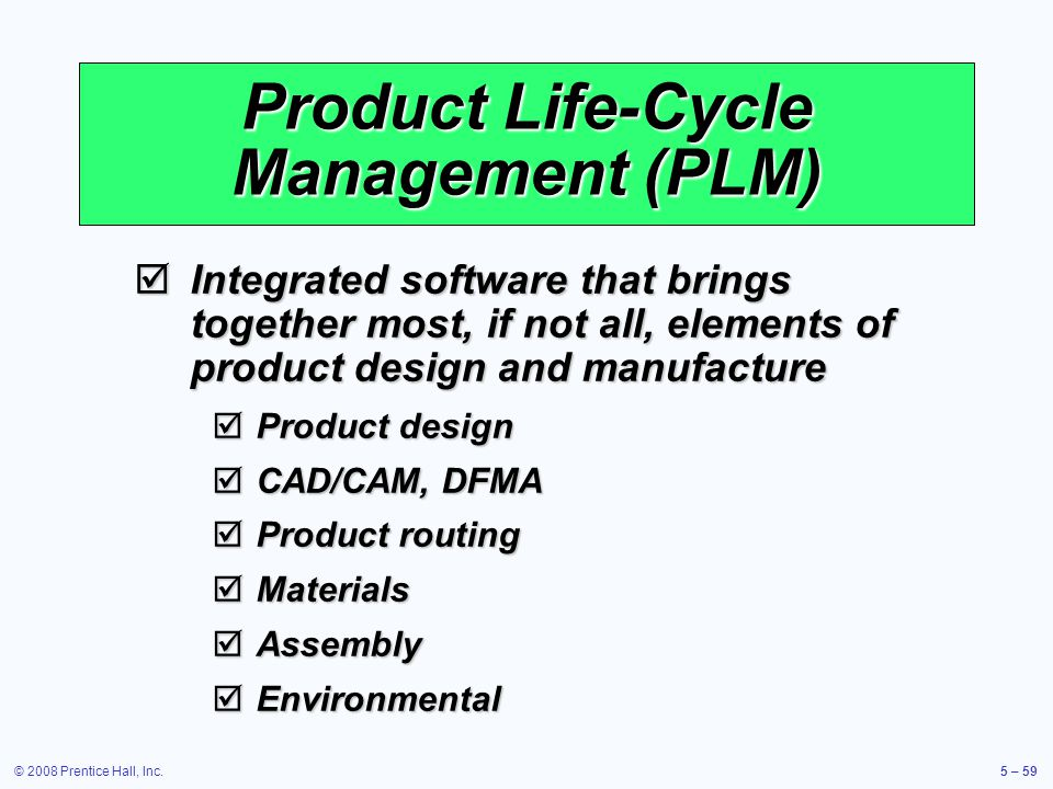Product Life-Cycle Management (PLM)