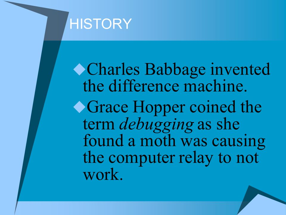 Charles Babbage invented the difference machine.