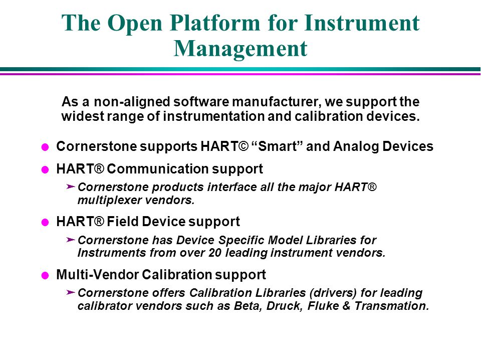 The Open Platform for Instrument Management
