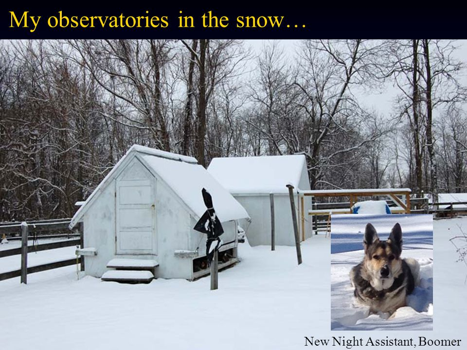 My observatories in the snow…