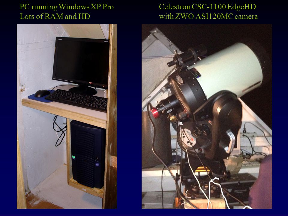 Celestron CSC-1100 EdgeHD with ZWO ASI120MC camera