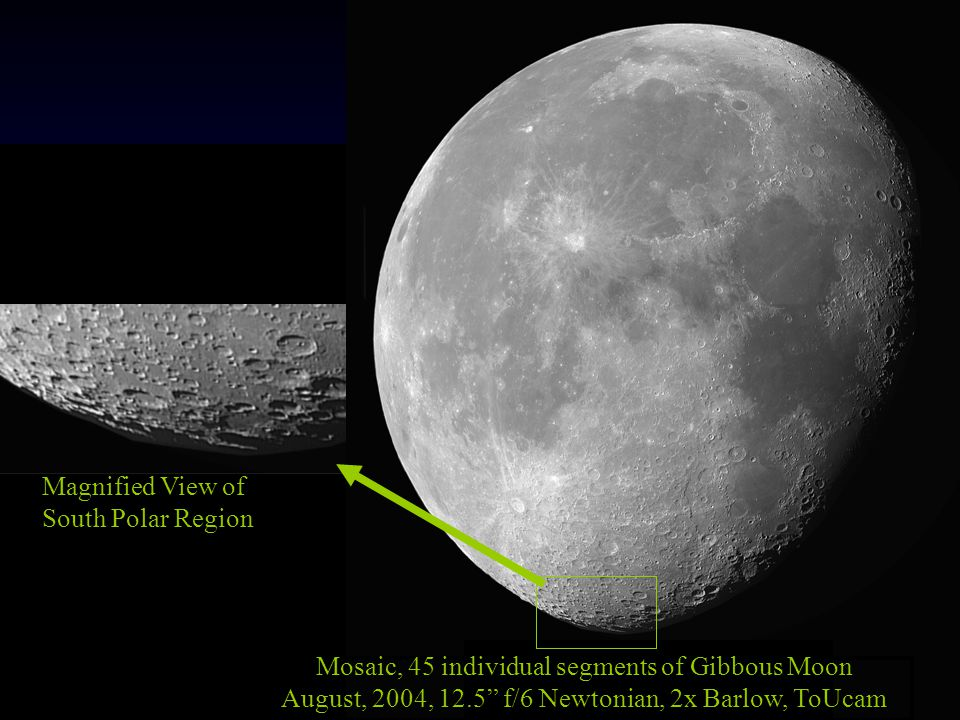 Mosaic, 45 individual segments of Gibbous Moon