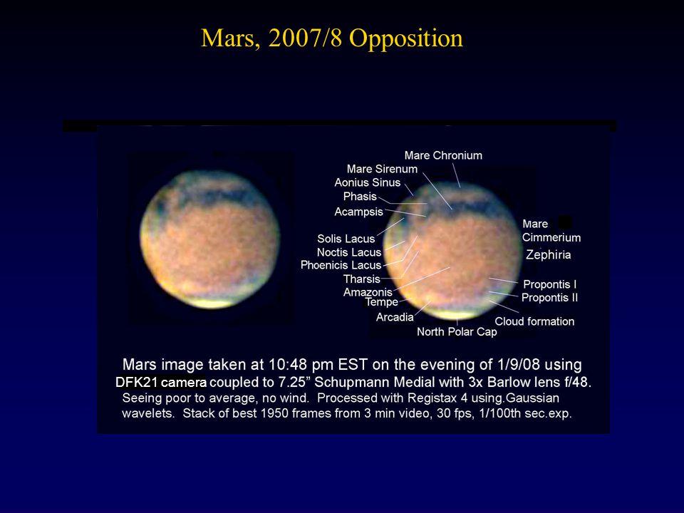 Mars, 2007/8 Opposition DFK21 camera