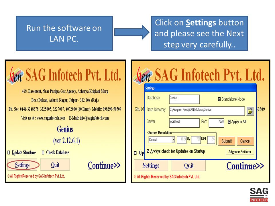 Run the software on LAN PC.