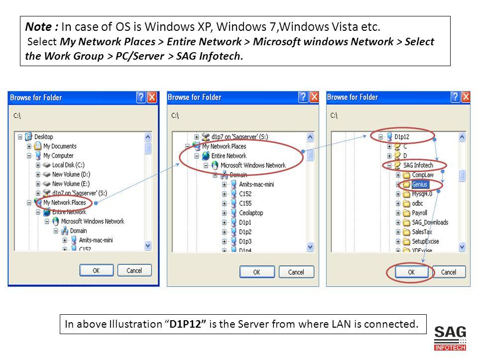 Note : In case of OS is Windows XP, Windows 7,Windows Vista etc.