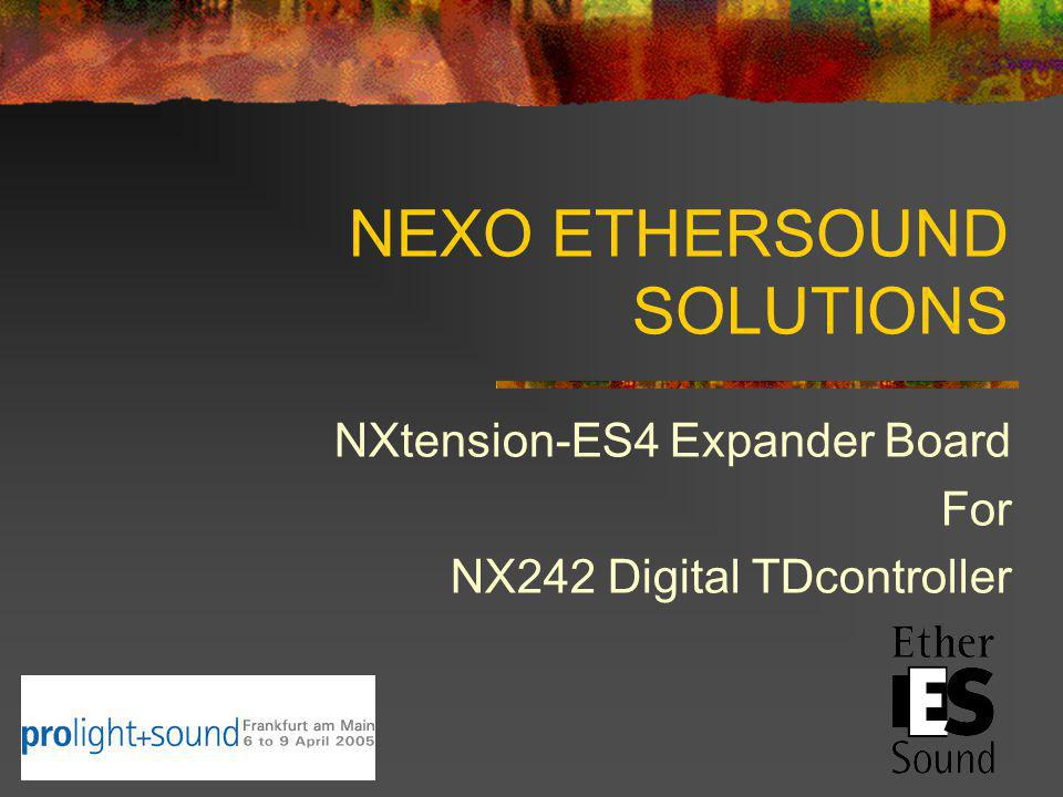 NEXO ETHERSOUND SOLUTIONS