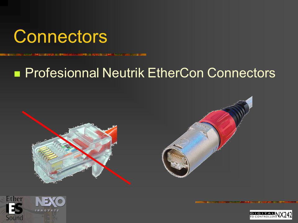 Connectors Profesionnal Neutrik EtherCon Connectors
