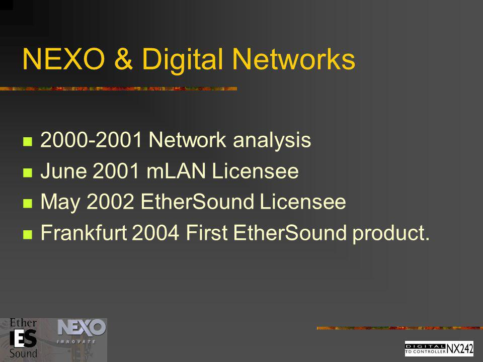 NEXO & Digital Networks