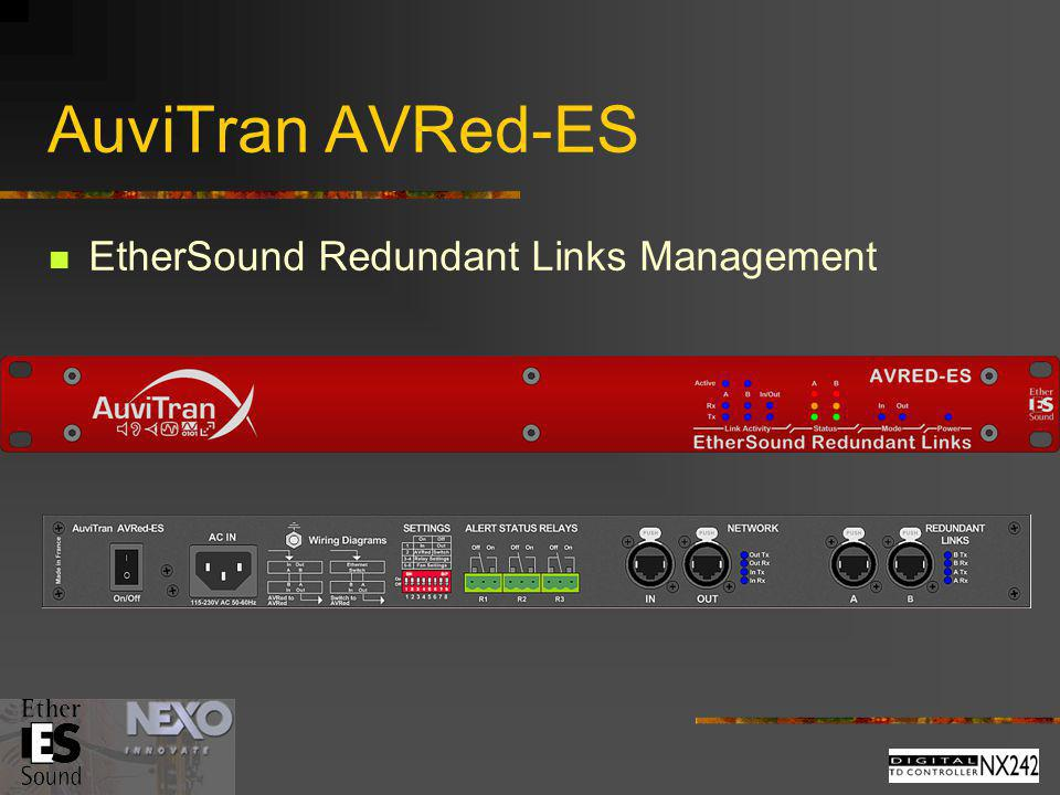 AuviTran AVRed-ES EtherSound Redundant Links Management