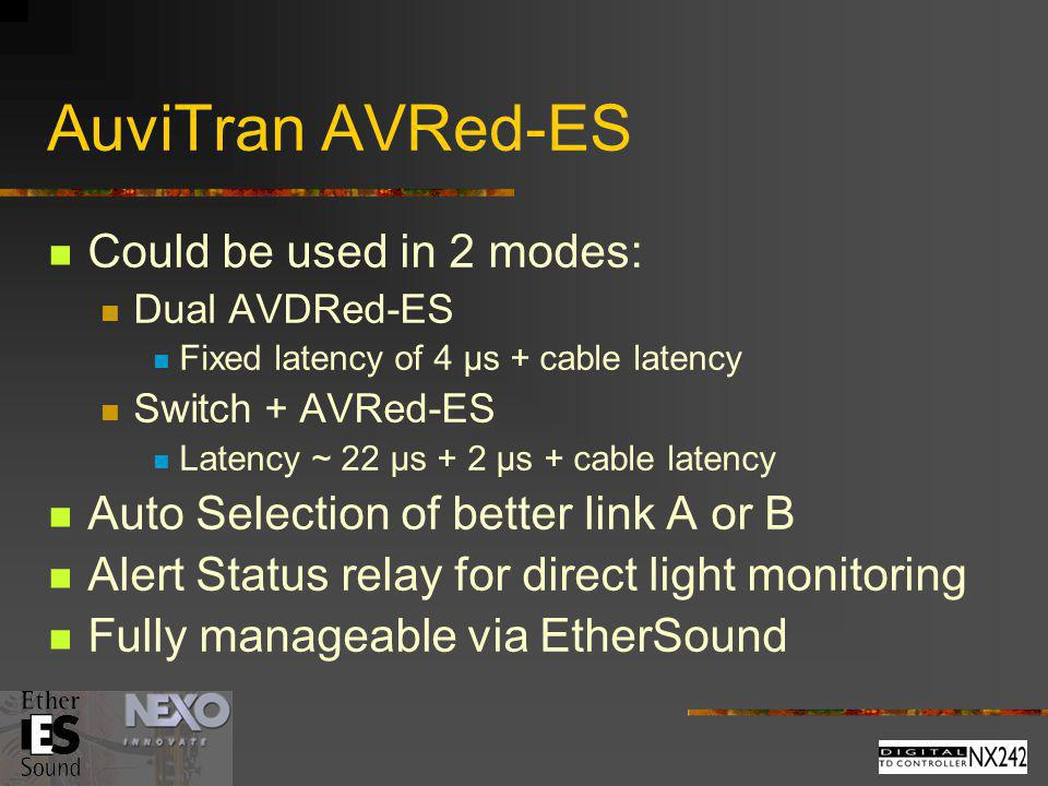 AuviTran AVRed-ES Could be used in 2 modes: