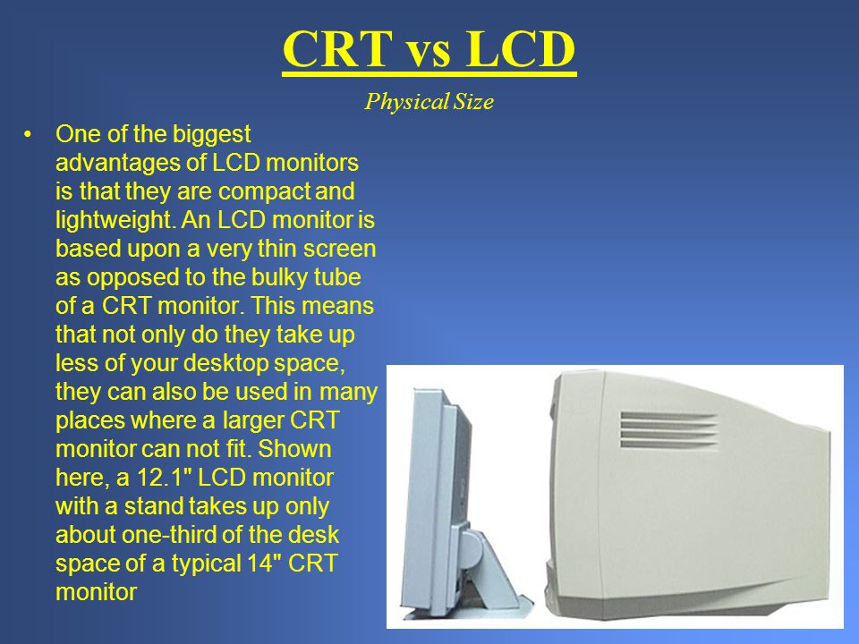 CRT vs LCD Physical Size