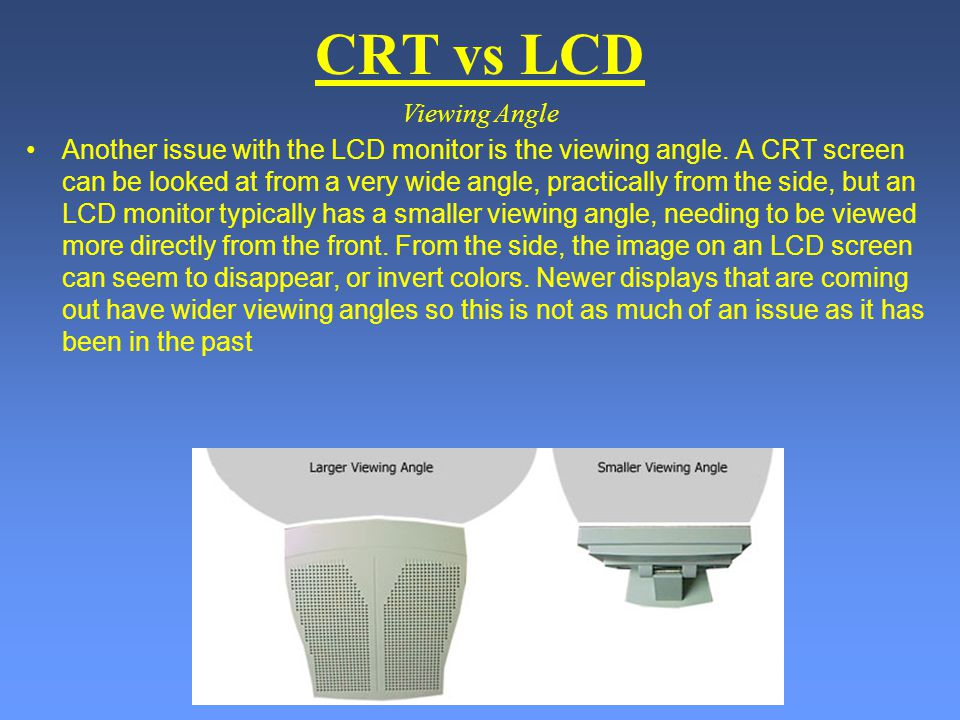 CRT vs LCD Viewing Angle