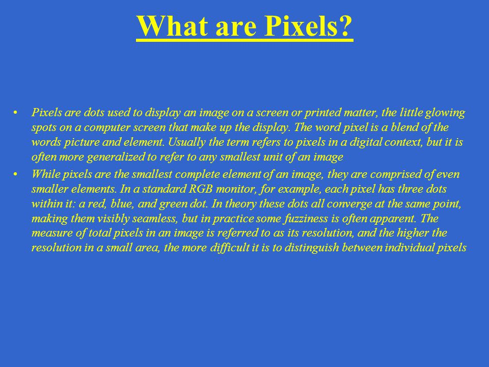 What are Pixels