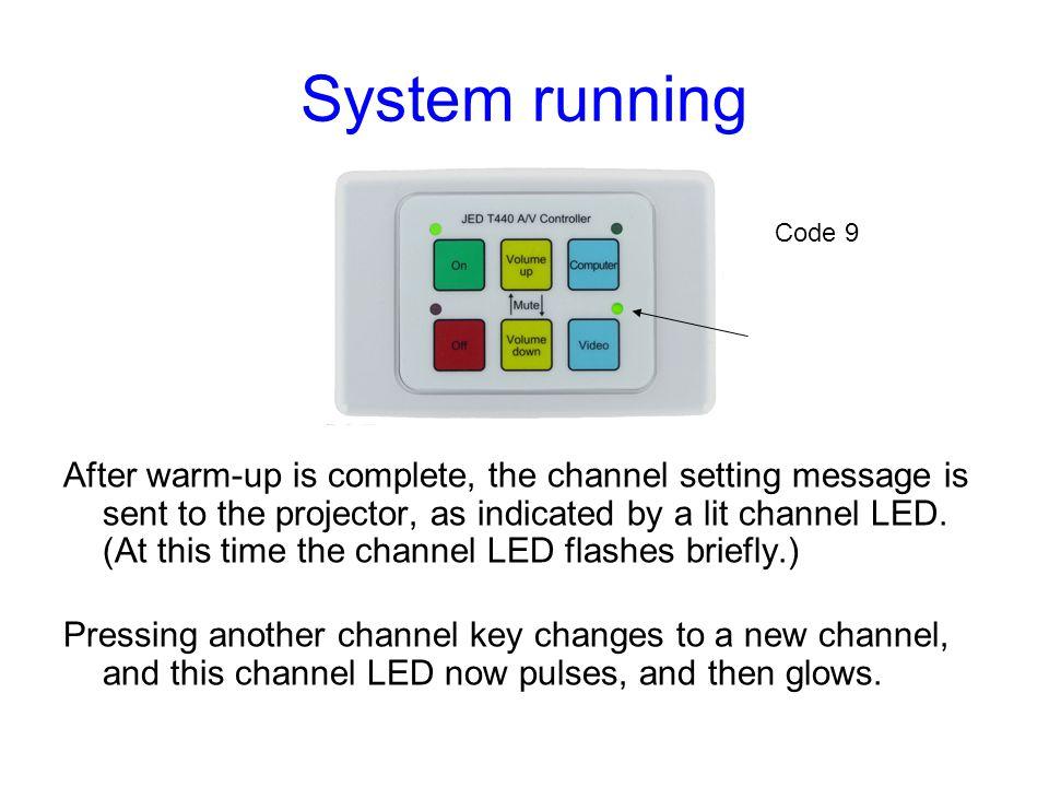 System running Code 9.