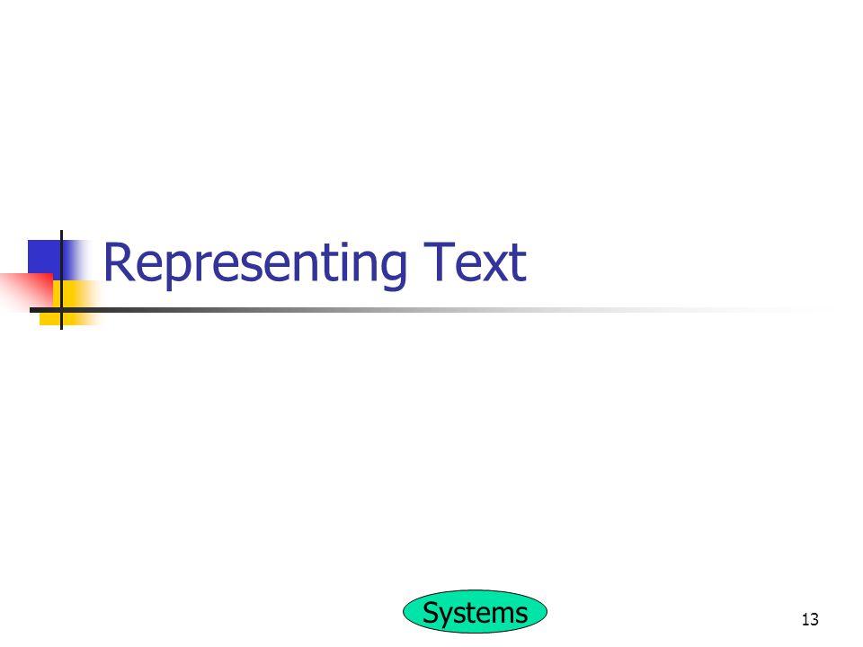 Representing Text