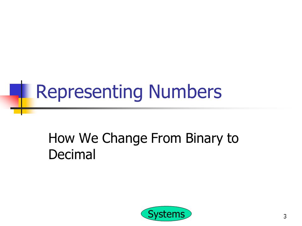How We Change From Binary to Decimal