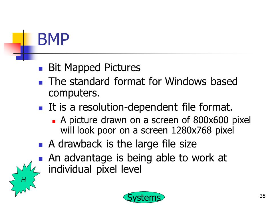 BMP Bit Mapped Pictures