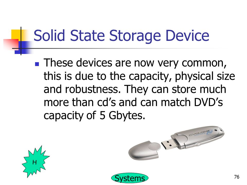 Solid State Storage Device