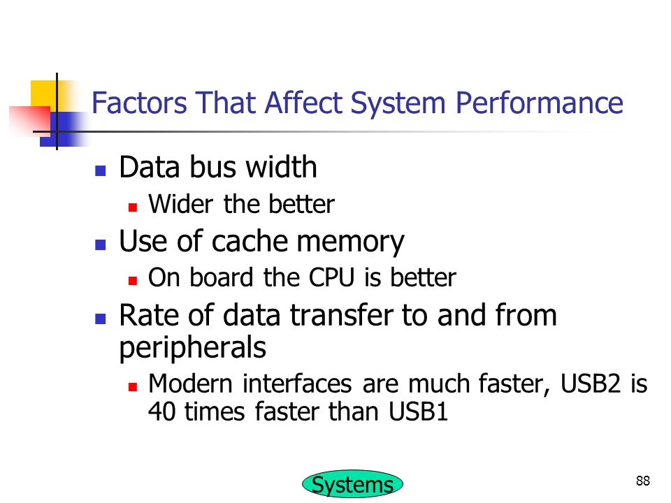 Factors That Affect System Performance