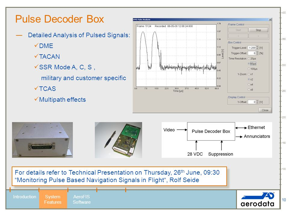Pulse Decoder Box Detailed Analysis of Pulsed Signals: DME TACAN