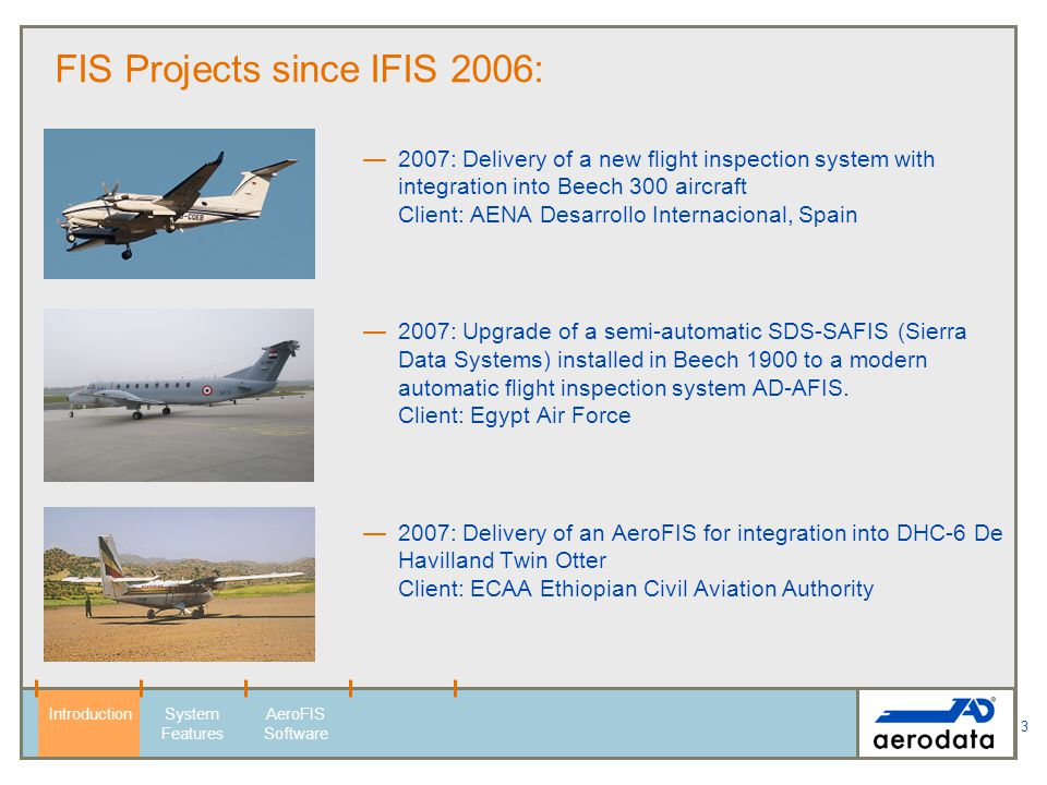 FIS Projects since IFIS 2006: