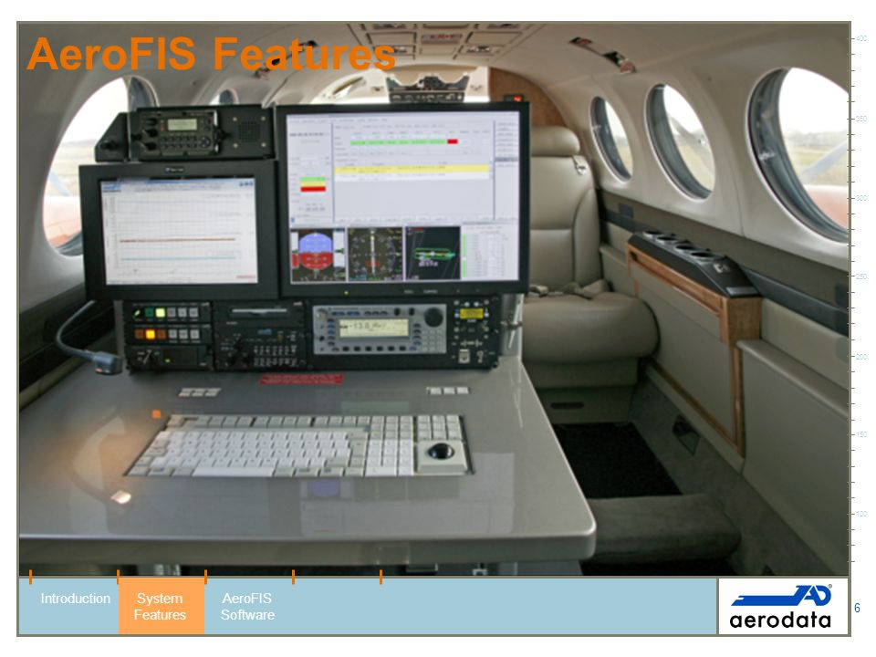 AeroFIS Features Introduction System Features AeroFIS Software 400 350