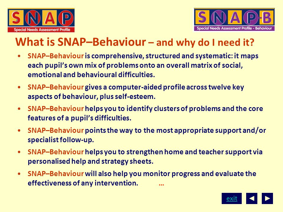What is SNAP–Behaviour – and why do I need it