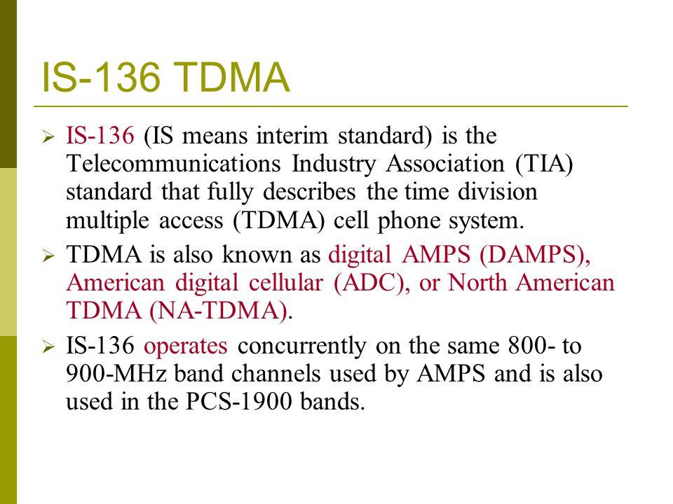 IS-136 TDMA