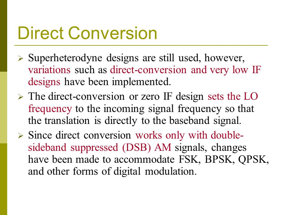 Direct Conversion