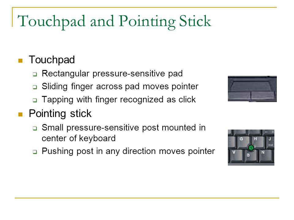 Touchpad and Pointing Stick