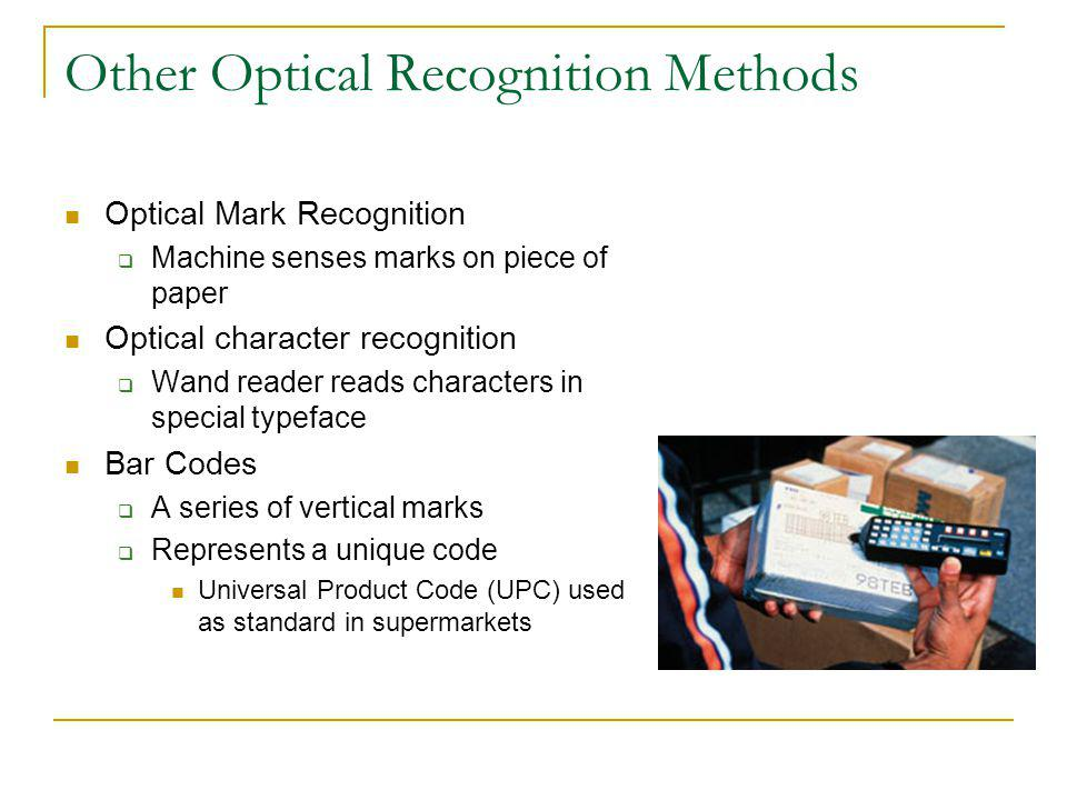 Other Optical Recognition Methods