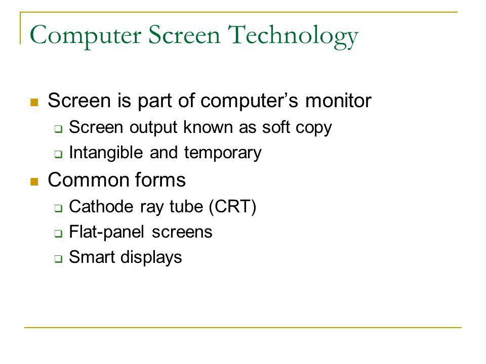 Computer Screen Technology