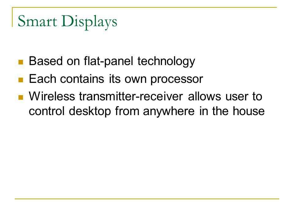 Smart Displays Based on flat-panel technology