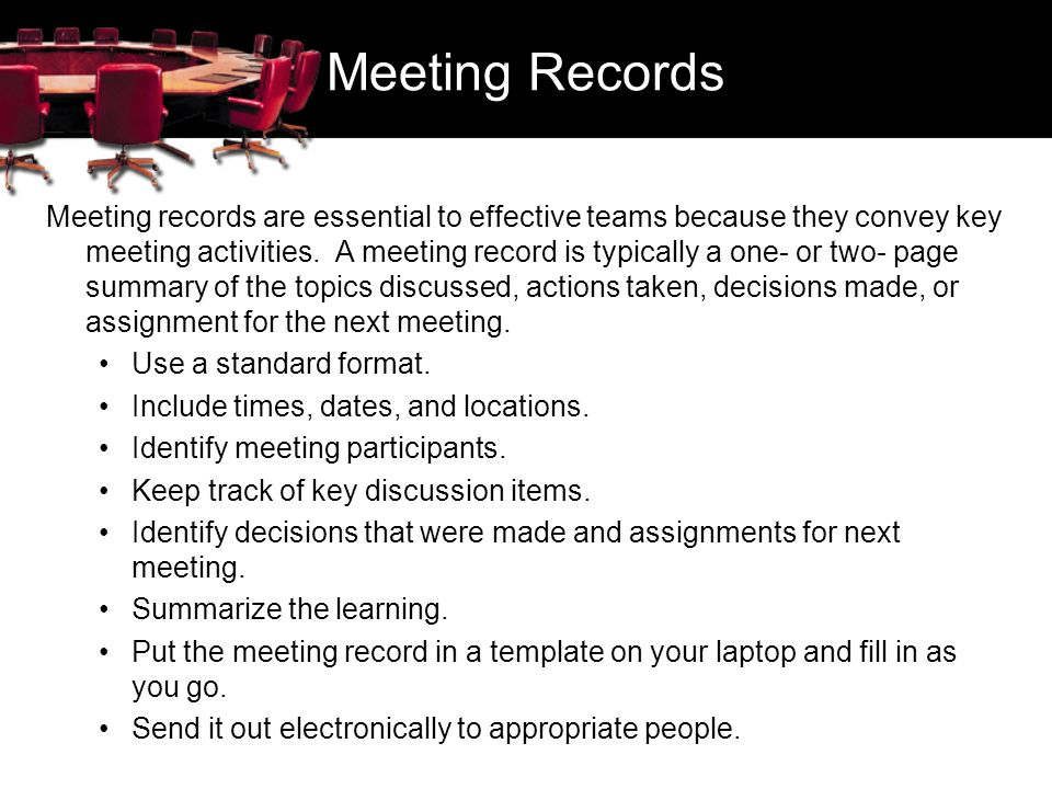 Meeting Records