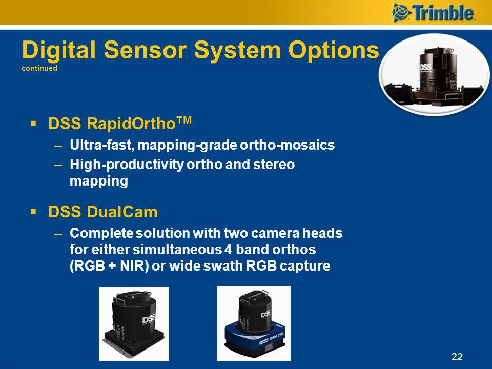Digital Sensor System Options continued